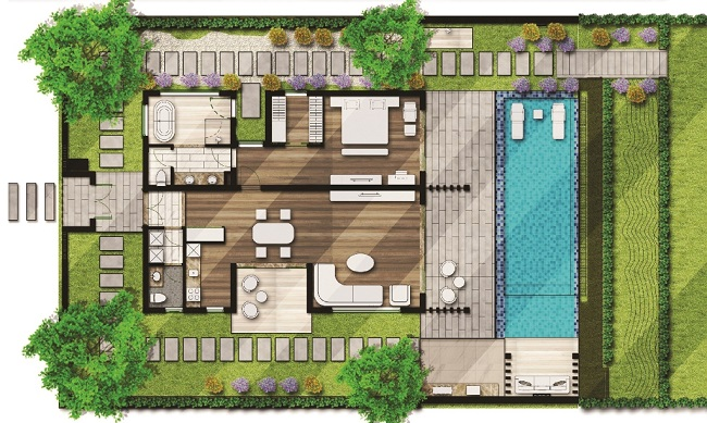 Mặt bằng layout dự án Movenpick Cam Ranh Resort