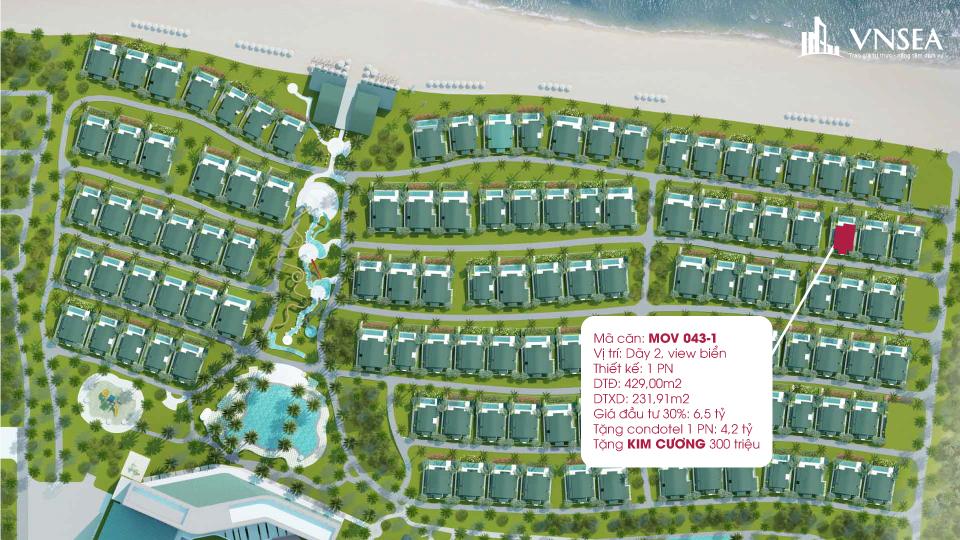 Movenpick Cam Ranh Resort -Một căn biệt thự điển hình