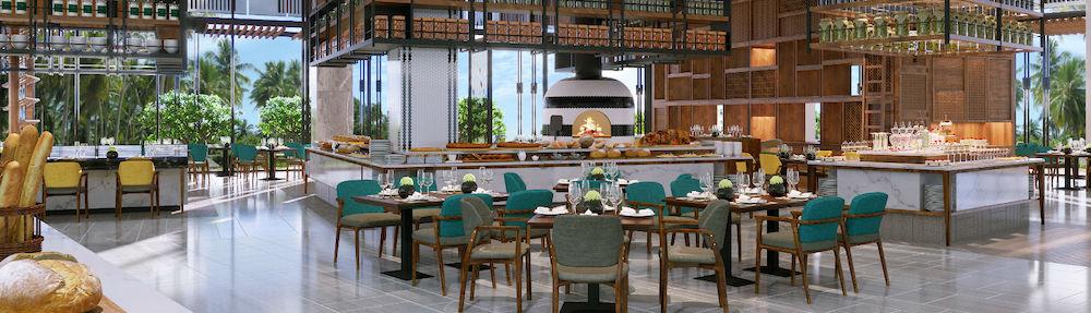 Không gian ẩm thực tại condotel Movenpick Resort Waverly Phú Quốc